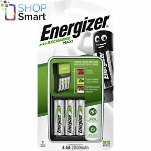 Energizer-Aufladen-Maxi-Ladegeraet-fuer-AAA-AA-Batterien-amp-4-AA-2000mAh-Batterien