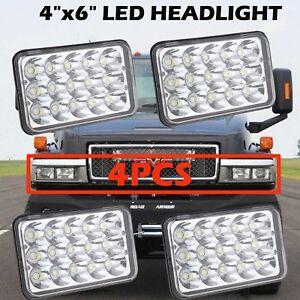 4x6 led sealed beam headlight cree for gmc topkick c4500. Black Bedroom Furniture Sets. Home Design Ideas