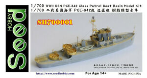 1-700-Seed-Hobby-WWII-USN-PCE-842-Class-Patrol-Boat-Resin-Model-Kit