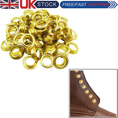 12mm Eyelets Grommets Brass Rust Proof Clothing Repair Sewing Craft 100pcs 2mm