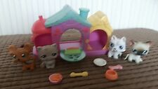 LITTLEST PET SHOP KENNEL, TWO DOGS, TWO CATS + ACCESSORIES 2004 HASBRO