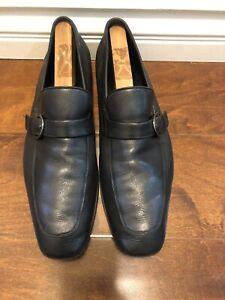 salvatore-ferragamo-Mens-Loafers-Slip-On-Black-Leather-Shoes-Sz-11-D-US