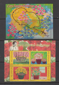 Philippine-Stamps-2014-Paintings-by-President-Corazon-Aquino-Scented-Complete-se
