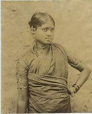 Tamil Woman In Ceylon / Sri Lanka c1880s - Skeen & Co.