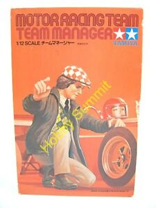 VIntage-Tamiya-1-12-MOTOR-RACING-TEAM-MANAGER-F-1-Grand-Prix-Model-Kit