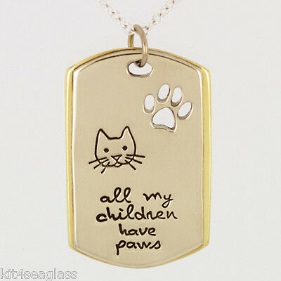 """Kitty Cat in Stocking Pendant Necklace 18/"""" Sterling Silver Chain Gift Boxed"""