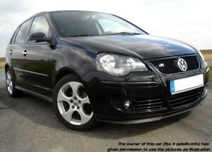 VW Polo 9N3 MK4 4 05-09 Cup Front Bumper Cup Chin Spoiler Lip Splitter Valance
