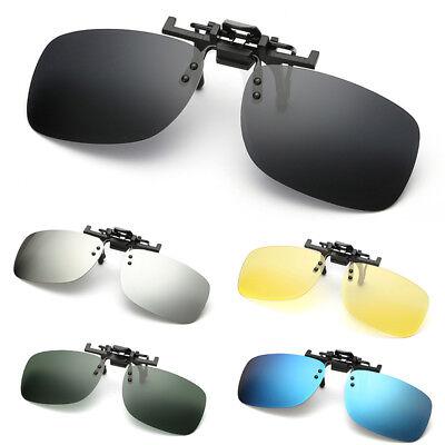 Polarized Clip On Flip Up Sunglasses Shades Clip for Myopia Glasses Eyewear