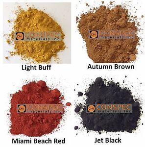 8dcf395793431 Details about 12 LBS Lot BROWN BUFF BLACK MIAMI RED Concrete Color Pigment  Dye Cement Mortar