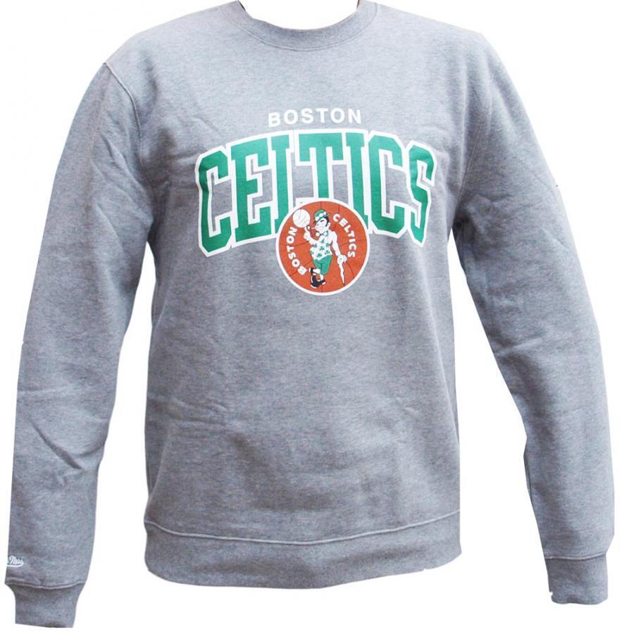 Mitchell & Ness Boston Celtics HWC Arch Logo Crewneck grau NBA Sweater Men