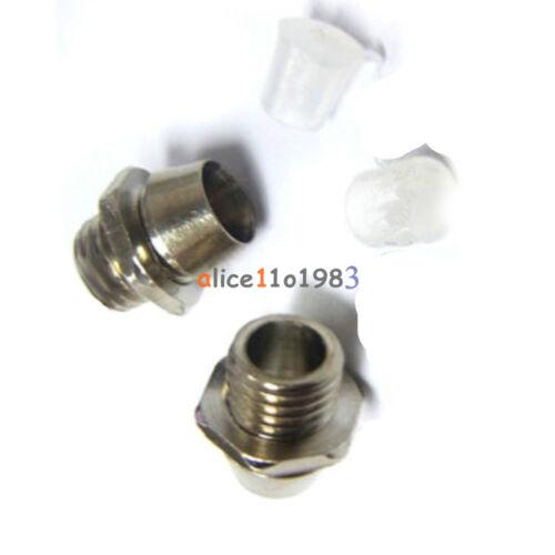 10//20PCS 3//5mm LED Holder Chrome Metal Silver Bezel Mount Rubber Base Display