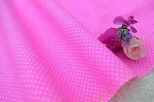 Pin Polka Dots fluorescent pink poly cotton art fabric per FQ