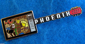 Phoenix-Color-Television-Juego-1990s-Era-Guitarra-Series-Hard-Rock-Cafe-Broches