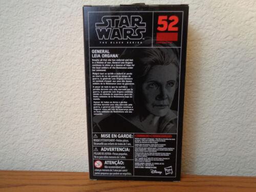 Star Wars 6 in Série Black General leia organa #52 le dernier Jedi en main environ 15.24 cm