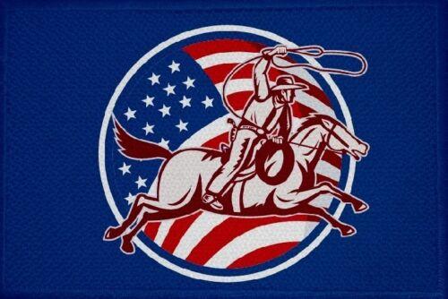 13 Fahne Flagge Aufbügler Patch 9 x 6 cm Aufnäher Cowboy und Indianer Motiv Nr