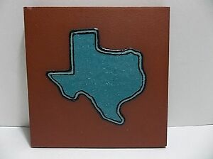 "Vintage TEXAS Quarry Tile Turquoise Enamel 6"""