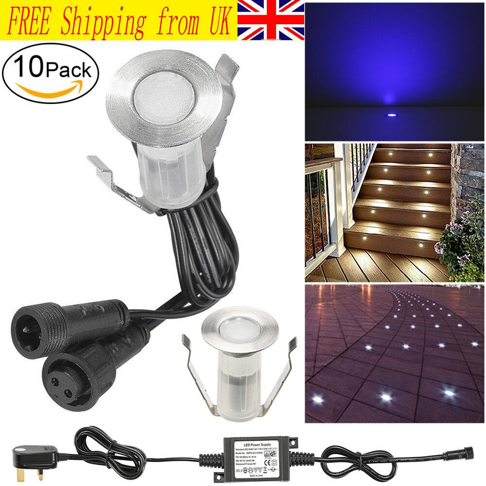 10Pcs 19 mm LED Cubierta Cocina Pedestal punto Patinete piso ruta Luces al aire libre 12 V