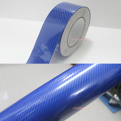 AB DIY Car House 5D Glossy Mirror Carbon Fiber Vinyl Tape Wrap Sticker Decal