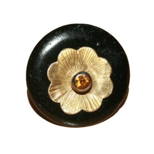 Blume in 935 Silbervergoldet 1 Stück für Ihren Ring ``Mineralien Fossilien Stein
