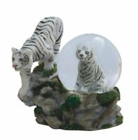4.25 Inch Two White Tigers Snow Globe, New, Free Shipping on sale