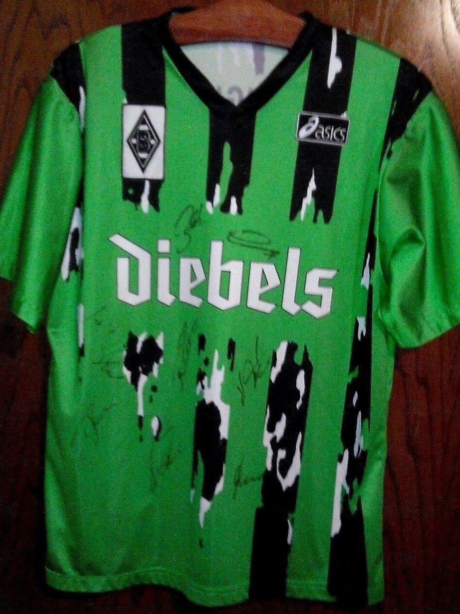 Borussia Mönchengladbach Trikot Asics signiert Diebels M selten alt für Sammler Sammler für b67a01