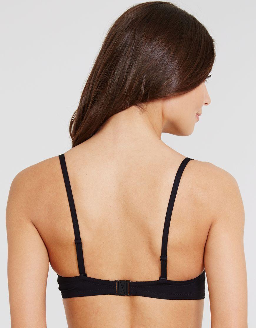 2bcd210e744fe Huit Retro Riviera Padded Strapless Bikini Top Black Bandeau Button V Sizes  34d for sale online