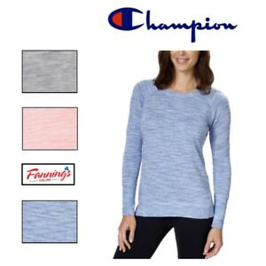 SALE-Women-039-s-CHAMPION-Long-Sleeve-Crew-Neck-Tee-T-SHIRT-SOFT-PULLOVER-C15