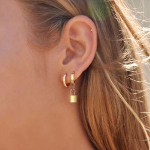 Dangle Earrings Schnabel am Ohr Padlock Pendant Ear Drop Huggies Ohrringe