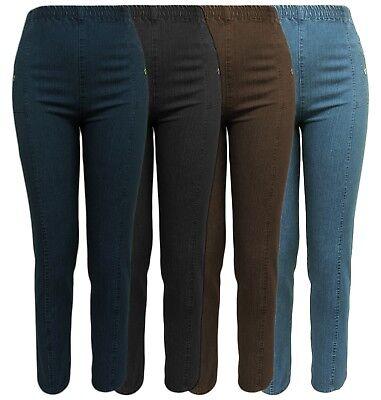Jeanshose Damenjeans Hose leicht Schlupfhose blau Stretch elastisch  Gr 36-54
