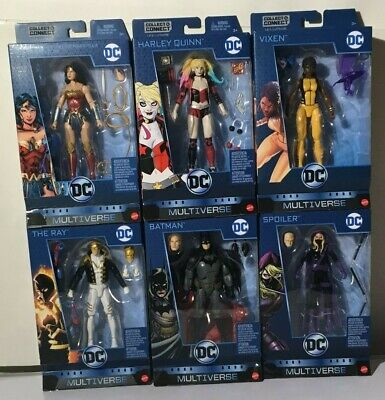 Multiverse Rebirth Set 6 Figures Lex Luthor C/&C-Series  Harley Quinn VIXEN damia
