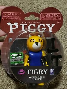 """Tigry Action Figure 3.5/"""" Series 1 Includes DLC Code PIGGY Game Roblox 2020"""