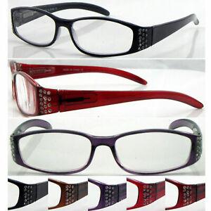 R367-Superb-Quality-Ladies-Reading-Glasses-Spring-Hinges-Fashion-Diamante-Design
