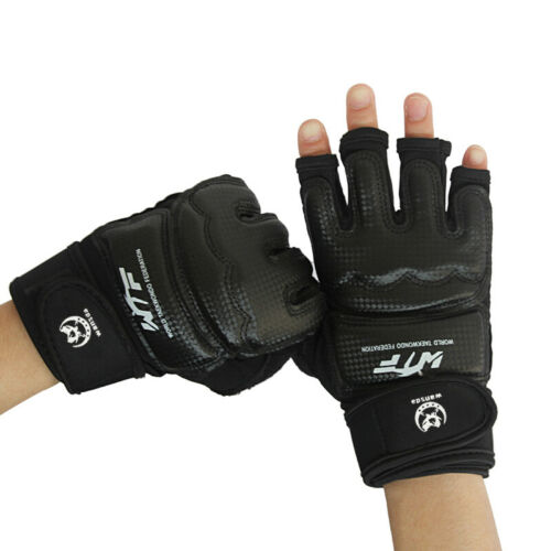 Adult Boxing Training Gloves MMA Kick Boxing Punching Gloves With Hand Wraps New