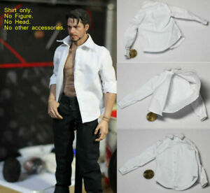 1-6-scale-White-Shirt-Long-Sleeve-Clothes-Model-For-12-034-Male-Action-Figure-Body
