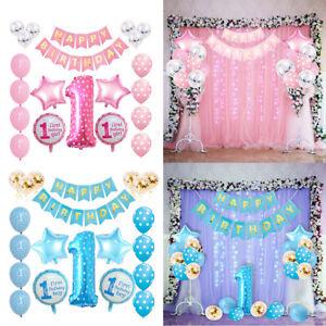 1 Years Older Birthday Party Baby Boy Girl Balloons Set Party Decor Uk Ebay