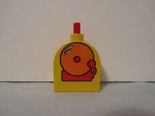 Lego Duplo Fire House Ring Bells Decorated Brick Push Button Sound  RARE Vintage