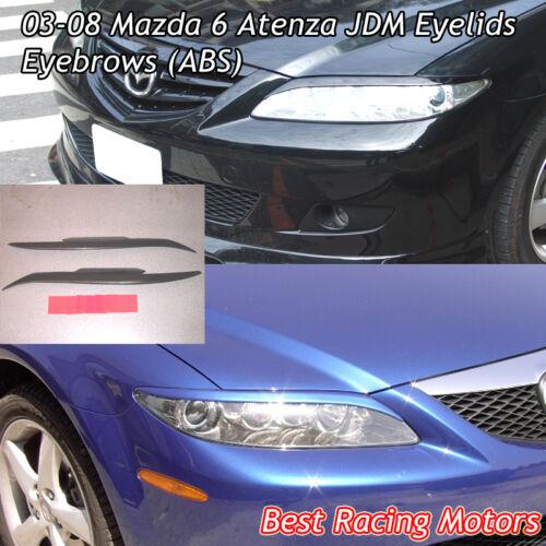 JDM Style Headlights Eyebrows Eyelids Fits 03-08 Mazda 6 ABS