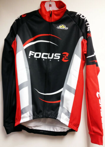 Focus Windproof Thermal Cycling Jacket in Black Made in Italy by GSG