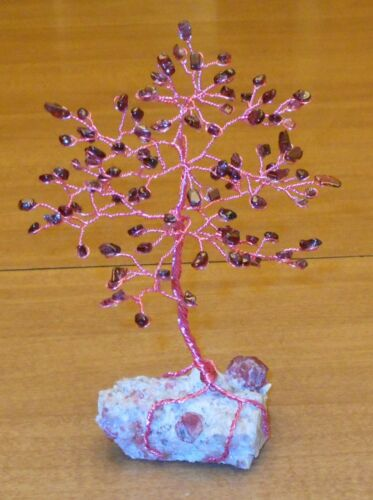 6.5 inchMagnificent GARNET Gem tree on a GARNET crystalsinmatrix base!