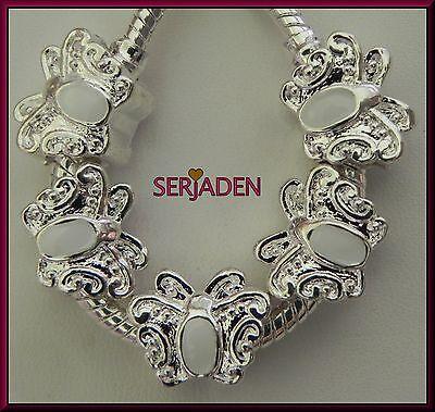 5Pcs Tibetan Silver Food Fruit Big Hole Spacer Beads fit European Bracelet Chain