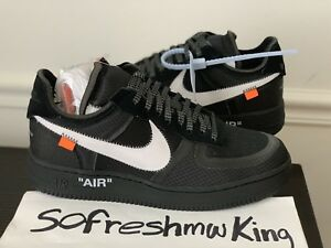 White 8 001 Off 1 Sz Ao4606 Ds Negro Nike Airforce 191888844999 TH16qqw