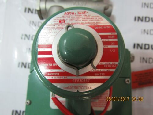 ASCO RED HAT EF830847 1//2/'/' VALVE NEW
