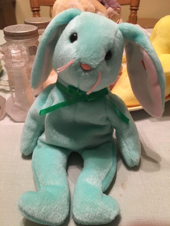 Extrem seltene ty hippity - kaninchen beanie baby mehrere tag fehler, 1996