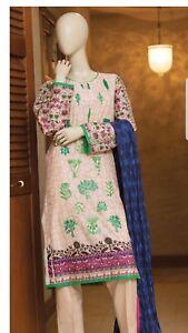 Other Women's Clothing Khaadi 100% Original Embroidred Designer Unstitched Suit Maria B Sana Safinaz