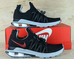 8e1a53e18ff044 Nike SHOX Gravity Mens Running Shoes Black Varsity Red AR1999 016 ...