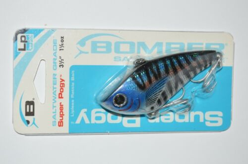 """bomber super pogy saltwater low pitch rattles 3 1//2/"""" 1 1//4 oz wahoo"""