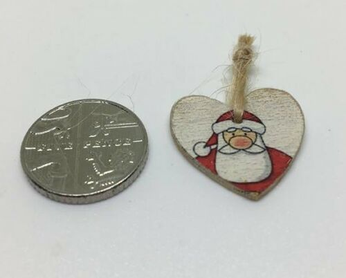 1:12th Scale Miniature Dolls House accessory Santa hanging Christmas decoration