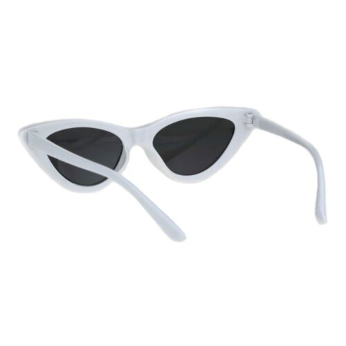 Girls Kid Size Mod Plastic Cat Eye Minimal Chic Retro Sunglasses