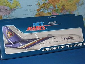 Details about 1200 SKYMARKS THAI AIRLINES AIRBUS A380 800 WGEAR AIRCRAFT MODEL *BRAND NEW*