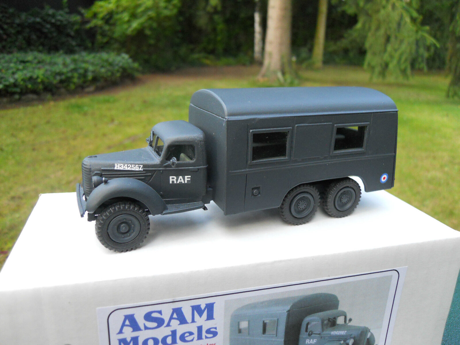 Military vehicle asam models ref ht 328 ford sussex 6x4 raf crew bus mint box